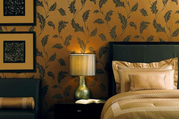 Modern Renkli Ve Desenli Yatak Odası Duvar Kağıtları desenli yatak odası duvar kağıtları - yatak odasi koyu desenli duvar kagitlari - Modern Renkli Ve Desenli Yatak Odası Duvar Kağıtları