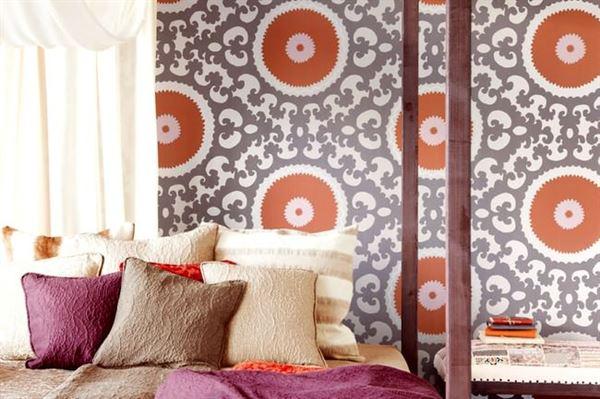 Modern Renkli Ve Desenli Yatak Odası Duvar Kağıtları desenli yatak odası duvar kağıtları - yatak odasi moda duvar kagit modelleri - Modern Renkli Ve Desenli Yatak Odası Duvar Kağıtları