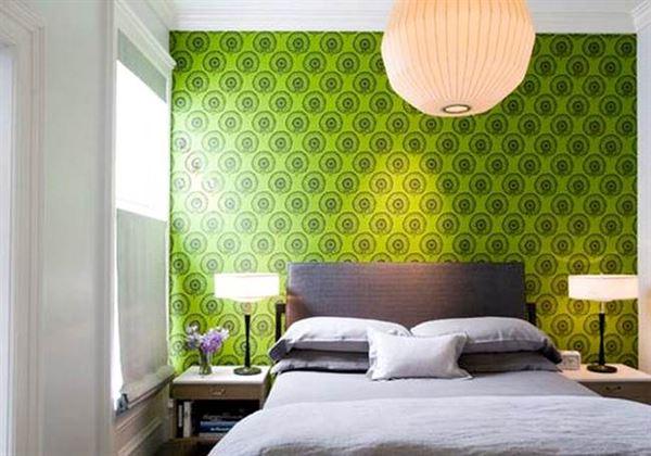 Modern Renkli Ve Desenli Yatak Odası Duvar Kağıtları desenli yatak odası duvar kağıtları - yatak odasi yesil duvar kagit modelleri - Modern Renkli Ve Desenli Yatak Odası Duvar Kağıtları