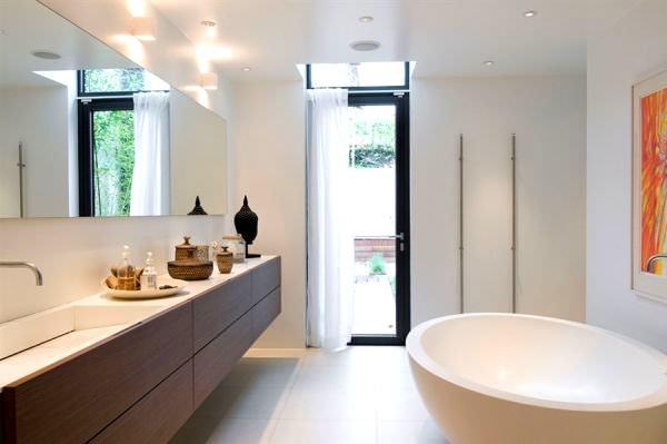 Geniş Modern Lüks Banyo Dekorasyon Modelleri 69