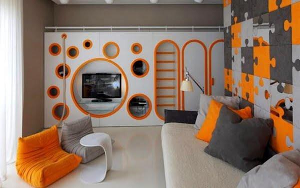 geometrik-desenli-genc-odasi-turuncu