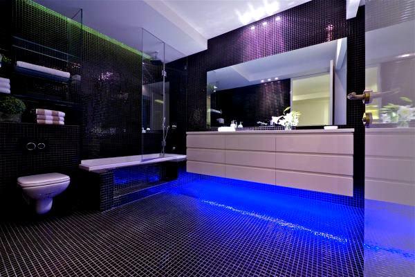 Geniş Modern Lüks Banyo Dekorasyon Modelleri 5