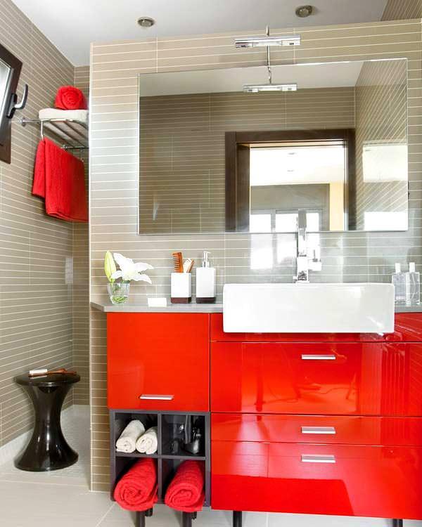 Banyo Lavabo Dolap Tasarımları 7