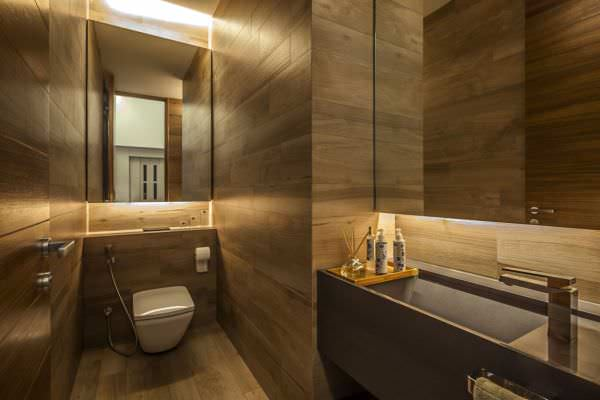 Geniş Modern Lüks Banyo Dekorasyon Modelleri 9