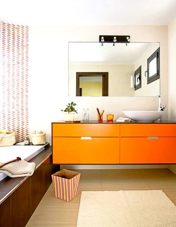 Banyo Lavabo Dolap Tasarımları 9