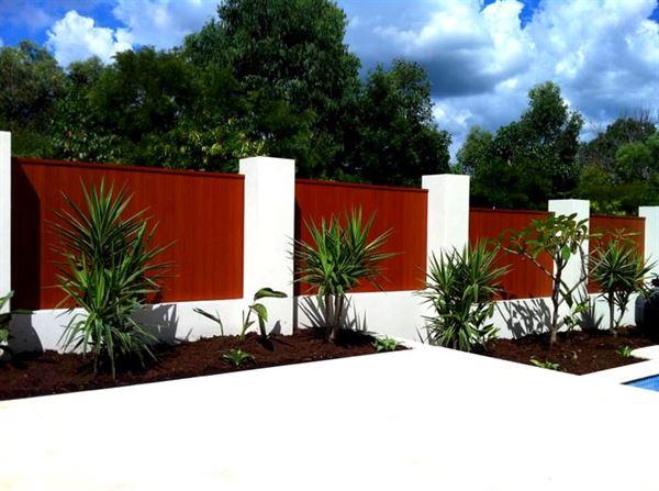bahçe duvar ve Çit modelleri - bahce duvar modelleri