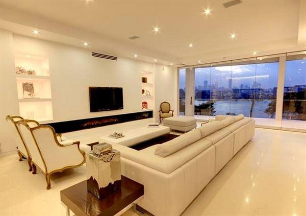 Etkileyici Modern Salon Dekorasyon Fikirleri etkileyici modern salon dekorasyon fikirleri - beyaz luks modern salon dekorasyon - Etkileyici Modern Salon Dekorasyon Fikirleri