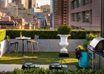 çatı katı yeşillik bahçe