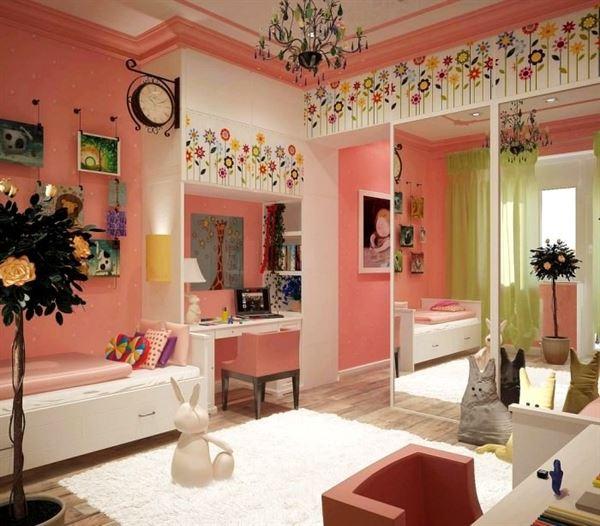 dekoratif kız çocuk odası