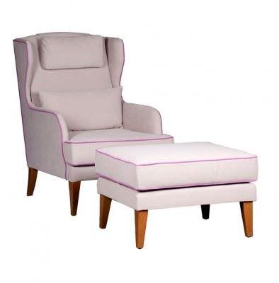 enne mobilya dekoratif modern berjer modelleri - enne mobilya genello krem lila berjer koltuk - Enne Mobilya Dekoratif Modern Berjer Modelleri