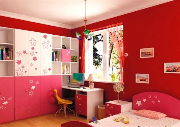 genç kız odası modelleri bebek ve genç odası - kirmizi genc kiz odasi dekorasyon stili - Bebek Ve Genç Odası Dekorasyon Stilleri