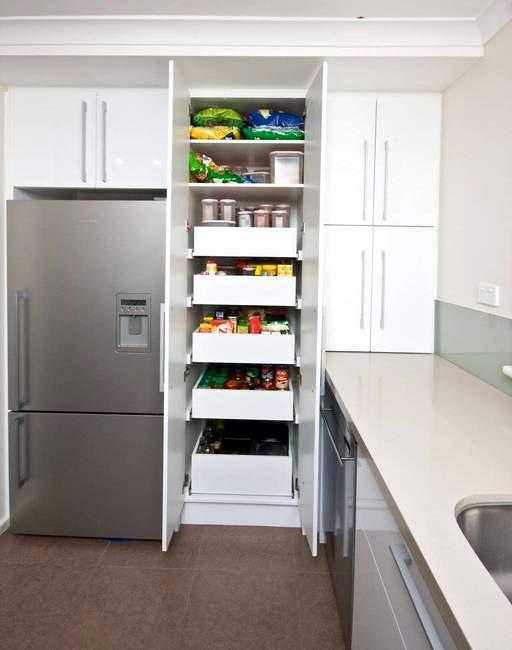 Mutfak dolap ici cekmece modelleri for Pantry designs australia