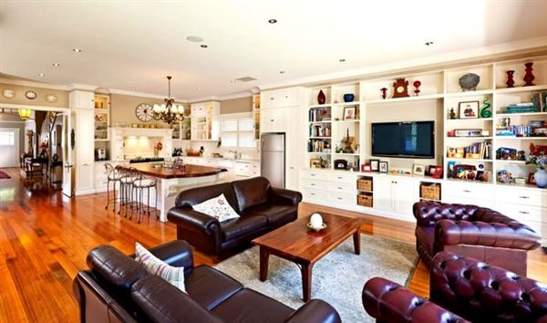 Etkileyici Modern Salon Dekorasyon Fikirleri etkileyici modern salon dekorasyon fikirleri - mutfak salon bir arada ev dekorasyon - Etkileyici Modern Salon Dekorasyon Fikirleri