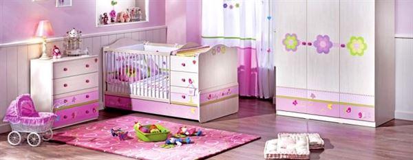 pemebe kız odası dekorasyon bebek ve genç odası - pembe bebek odasi dekorasyon modeli - Bebek Ve Genç Odası Dekorasyon Stilleri