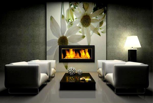 somineli dekoratif dekorasyonlu oda