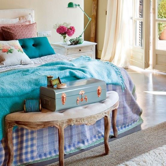 Vintage Yatak Odası Dekorasyonu