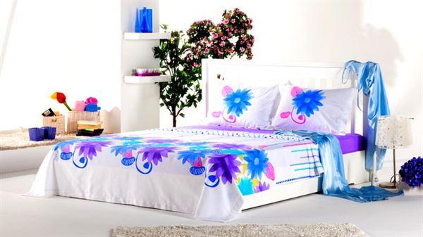 yatak pike mavi