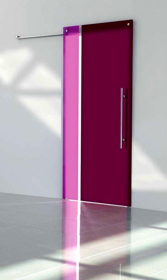 Desenli Ve Renkli Cam Kapı Modelleri 1
