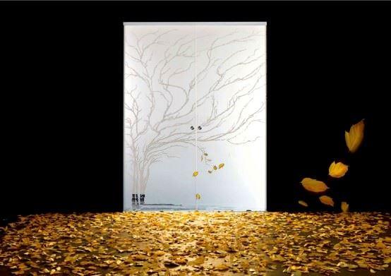 Desenli Ve Renkli Cam Kapı Modelleri 3