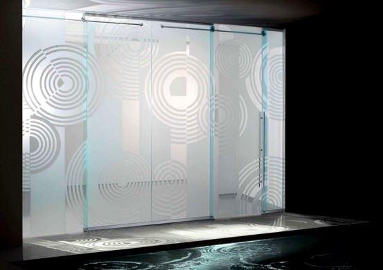 Desenli Ve Renkli Cam Kapı Modelleri 4