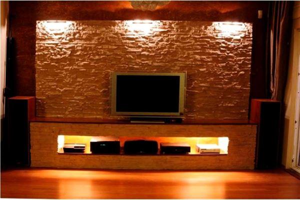 Lcd Televizyon Duvar Niş Tasarımları 1