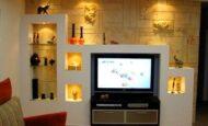Lcd Televizyon Duvar Niş Tasarımları