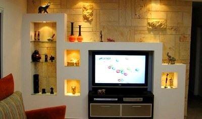 Lcd Televizyon Duvar Niş Tasarımları 2