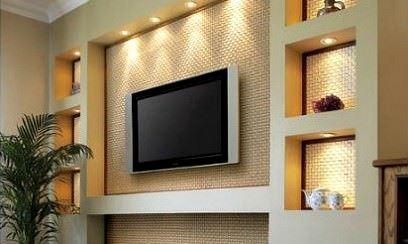 Lcd Televizyon Duvar Niş Tasarımları 3