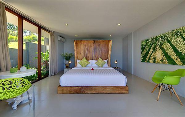 okyanus manzaralı yazlık ev dekorasyonu ve mimarisi - villa yatak odasi yatak - Okyanus Manzaralı Yazlık Ev Dekorasyonu Ve Mimarisi