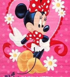 kaşmir halı disney karakterli Çocuk odası halıları - kasmir miki fareli cocuk halisi pembe 274x300 - Kaşmir Halı Disney Karakterli Çocuk Odası Halıları
