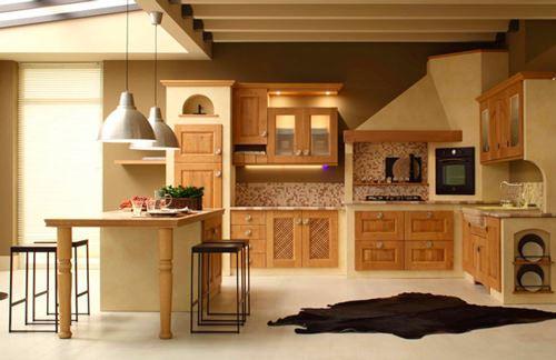 Ahşap Meşe Mutfak Tasarımı 40