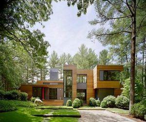 Doğal Ağaçlar Arasında Modern Ev Tasarımı