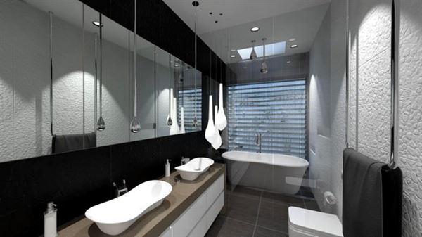 Yeni Tasarım Lüks Banyo Dekorasyon Fikirleri 11