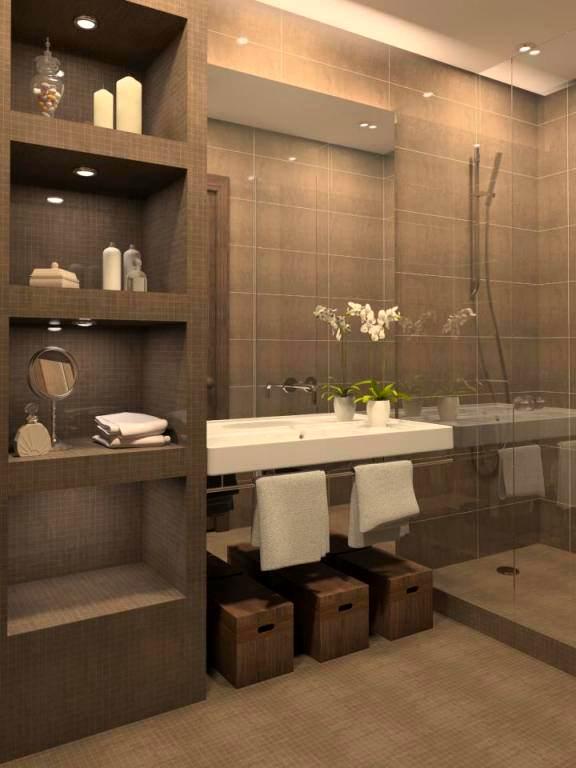 Yeni Tasarım Lüks Banyo Dekorasyon Fikirleri 3