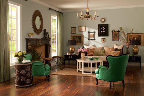 vintage stili salon dekorasyon