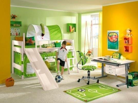Yeşil Renk Çocuk Odası Tasarımı 13
