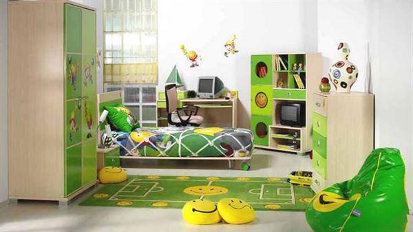 Yeşil Renk Çocuk Odası Tasarımı