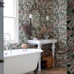 duvar kağıt modelleri - Bathroom wallpaper traditional 150x150 - Banyonlara Özel Yeni Tasarım Duvar Kağıt Modelleri