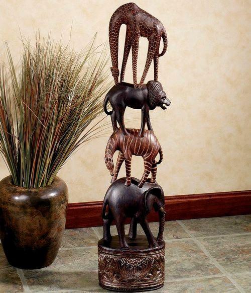 afrika-tarzi-heykel