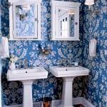 duvar kağıt modelleri - banyo desenli mavi duvar kagit 150x150 - Banyonlara Özel Yeni Tasarım Duvar Kağıt Modelleri