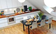 Dubleks Çatı Katı Daire Mutfak Modelleri