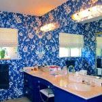 duvar kağıt modelleri - cicekli banyo duvar kagit 150x150 - Banyonlara Özel Yeni Tasarım Duvar Kağıt Modelleri