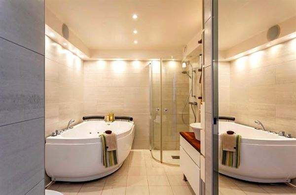 dubleks daire dekorasyonu - dubleks daire banyo dekorasyonu