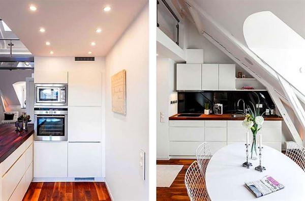 dubleks daire dekorasyonu - dubleks daire mutfak dekoru