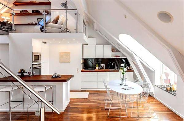 dubleks daire dekorasyonu - dubleks daire mutfak stilleri