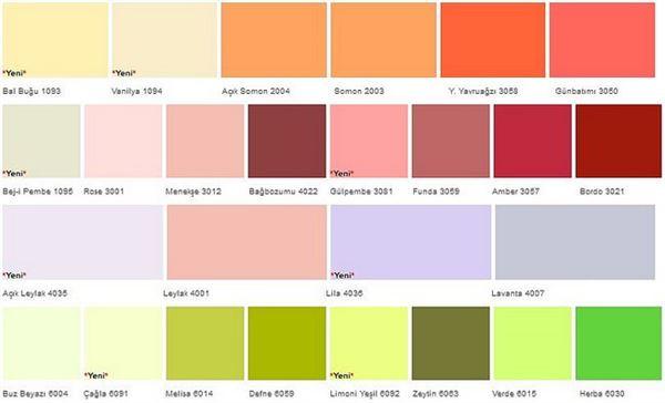 Filli Boya Alpina Silikonlu İç Duvar Boya Renkleri 20