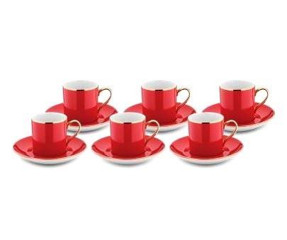 Hisar Renkli Kahve Fincan Takımları 6