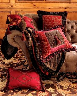 süslemeli kırlent yastık modelleri