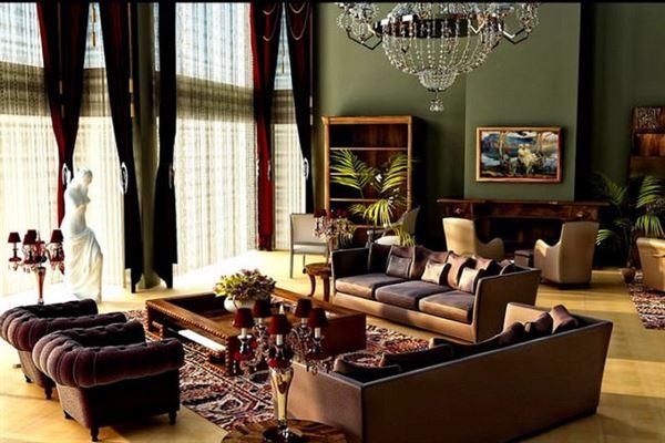 Klasik Retro Tarzı Oturma Odası Dekorasyon Tarzları