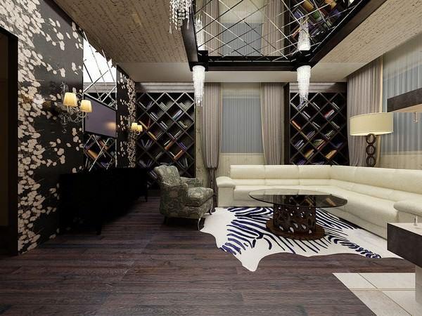 oturma odası tavan ayna döşeme modeli